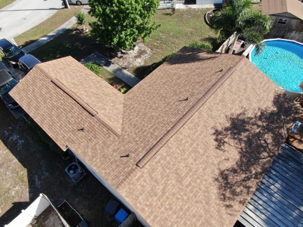 new shingle roof on a Florida home