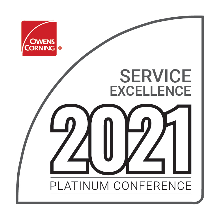 Owens Corning 2021 Service Excellence Award