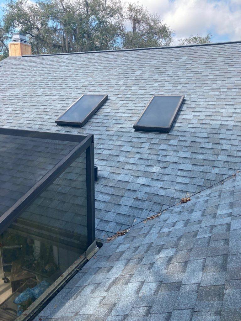 skylights on a new shingle roof
